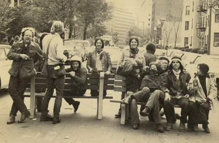 Will, far left, at a 1971 May Day protest in New York City.