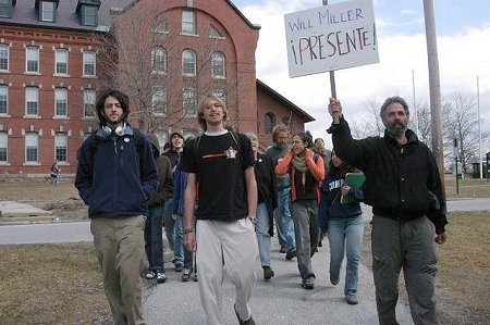 UVM Speak-Out in Memory of Will, April 1, 2005.