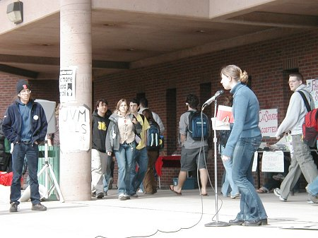 UVM Speak-Out, April 1, 2005
