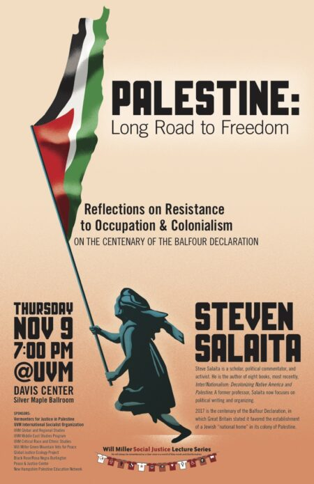 Steven Salaita speaking at UVM
