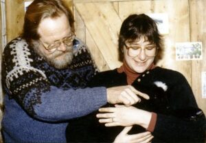 Will and Ann with their cat