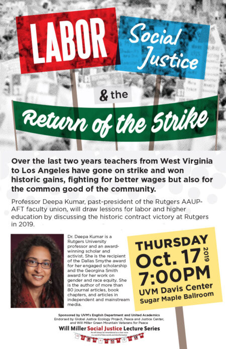 Labor, Social Justice, and the Return of the Strike poster