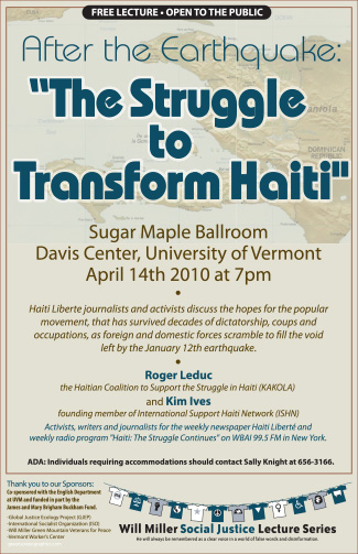 Poster: the Struggle to Transform Haiti