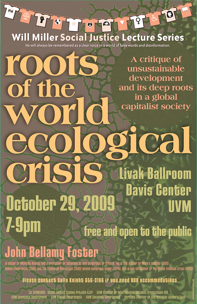 poster: Roots of the World Ecological Crisis